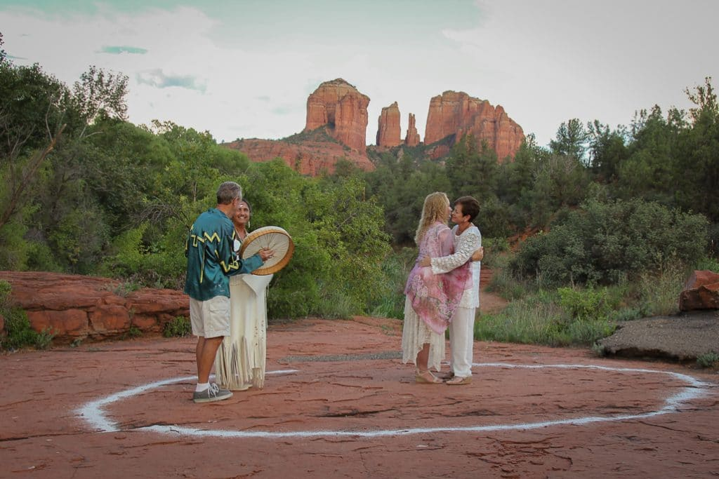 Red Rock Crossing wedding location Native Wedding Same Sex