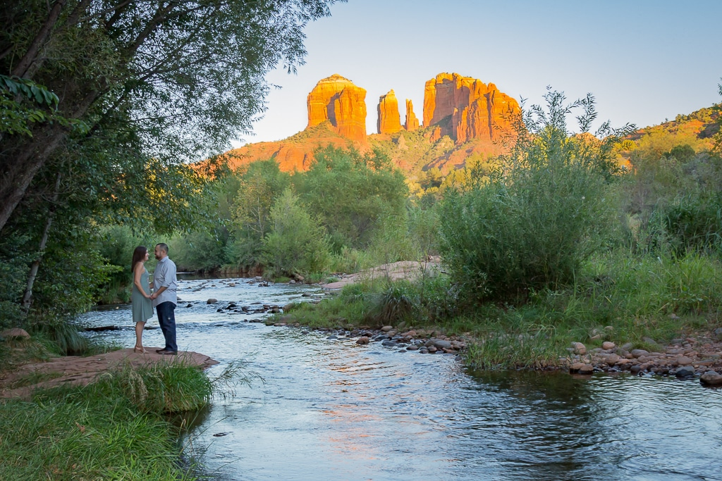Sedona engagement photo Crescent Moon Ranch