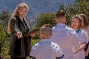 Leslie McCandless officiating Sedona Elopement Weddings