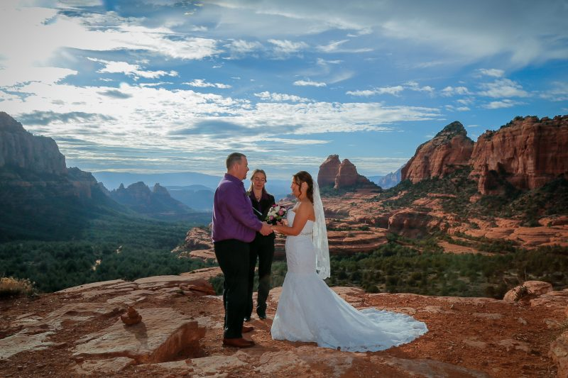 Patricia officiating for Sedona Elopement Weddings